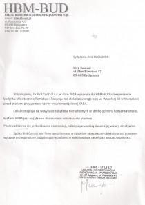 Referencje od  HBM-BUD