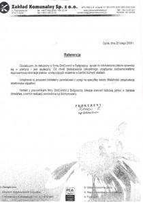 Referencje od CDDS zakład komunalny