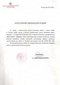 Referencje dowódca jednostki wojskowej  Rajzel