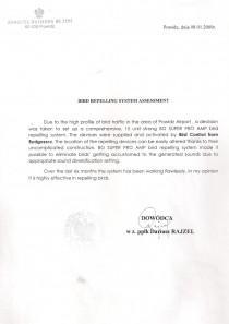 Referencje dowódca jednostki wojskowej