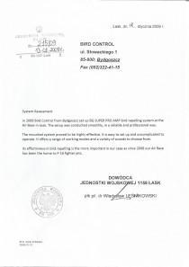 Referencje dowódca jednostki wojskowej  1158