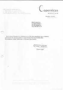 Referencje od Copernicus Wrocław