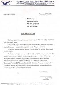 Referencje od Górnośląskiego towarzystwa lotniczego